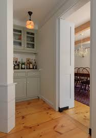 Swinging Doors For Kitchen Kitchen With Swinging Door And Wooden Floors House With Swinging
