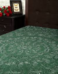 indian print bedspread cotton green embroidered bedspread bed