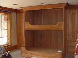 Built In Bunk Beds Bedroom Lovely Custom Craftsman Mahogany Materials Bunk Built In