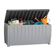 amazon com keter novel plastic deck storage container box