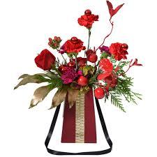 Red Flowers In A Vase Flowerbox 8