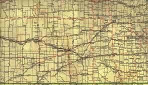 Map Of Ks 1936 Phillips Petroleum Kansas Map