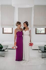 destination wedding santorini with bride in essence of australia