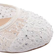 wedding shoes qatar womens ballerina ballet dolly pumps flat lace diamante