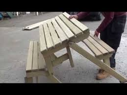 folding picnic table made out of 2x4s youtube muebleria