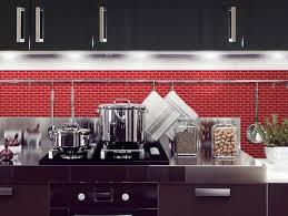 kitchen smart kitchen design with red tile backsplash idea and