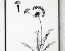drawn dandelion dandelion clock pencil and in color drawn