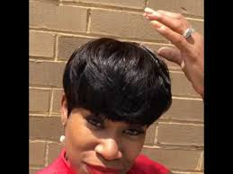 can you sew in extensions in a pixie hair cut quick weave pixie cut youtube