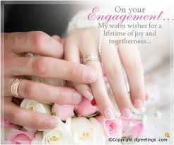 wishes for engagement cards engagement card
