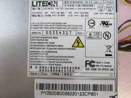 acer veriton m410 250w desktop atx power supply py 2500b 002 lite