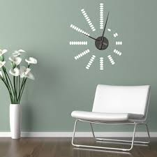 Cool Wall Decals by Modern Wall Clock Sticker 144 Clock Wall Decal Ikea Silver Black