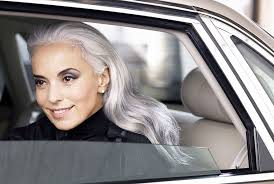 old hair at 59 59 year old grandmother still going strong as a fashion model gray
