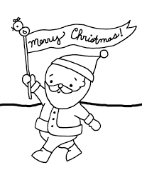 santa coloring pages for merry christmas christmas coloring