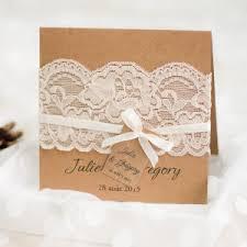 faire part de mariage rustique avec pochette dentelle jm702 - Faire Part Dentelle Mariage