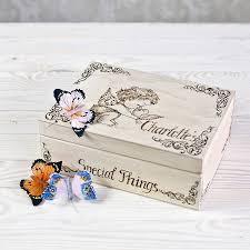 personalised keepsake box angel and dove personalised keepsake box by wooden gallery