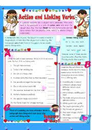 english worksheets linking verbs worksheets