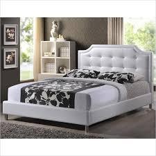 baxton studio carlotta tufted platform bed in white bbt6376 white xx