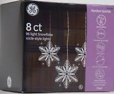 ge commercial grade icicle lights random sparkle ge snowflake christmas lights ebay