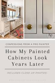 how to paint kitchen door knobs how do painted cabinets hold up time painted by