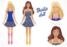 free vector barbie doll download free vector art stock graphics
