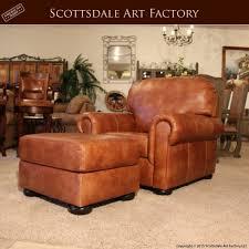 leather arm chair ottoman handmade custom furniture