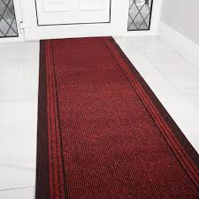 Front Door Carpet by Concorde Hardwearing Long Red Runner Rug Buy Per Foot Kukoon