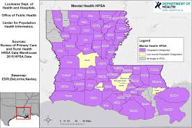 louisiana map areas health professional shortage area maps louisiana department of