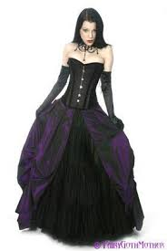 black wedding dress discount purple and black wedding dresses corset bridal