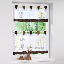 Curtains For The Kitchen Aliexpress Com Buy Fashion Cafe Embroidered Curtains For The