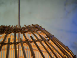 pendant lamp contemporary rattan handmade ger by marion