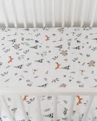 Muslin Crib Bedding Cotton Muslin Crib Sheet Forest Friends Forest Friends Crib