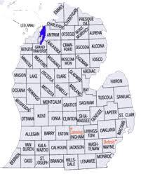 peninsula michigan map michigan trails