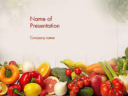fruits powerpoint template fruits and vegetables powerpoint
