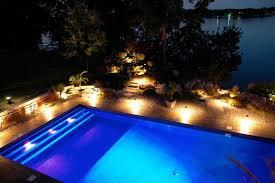 Colored Landscape Lighting Pool Outdoor String Lights Appealing Within Lighting Design 13