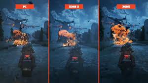 pubg xbox one x vs pc xbox one x pc and xbox one graphics comparison gears of war 4