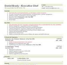 Resume Sample For Cook by Chef Resume Template Berathen Com