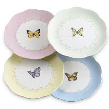 lenox butterfly meadow 8 inch dessert plates set of 4 bed