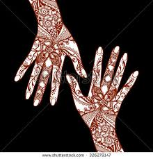 covered traditional indian mehendi stock vector