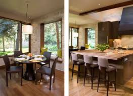 Tri Level Home Kitchen Design Flooring Decorations Creative Home Library Decor With Brown Wood