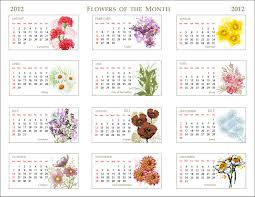 flower of the month unique calendar featuring the flowers of the month flower birth
