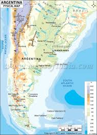 physical map of argentina physical map of argentina maps argentina sea