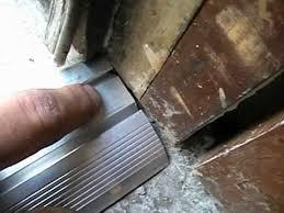 Replacing An Exterior Door Threshold Vinyl Aluminum Threshold Installation Pt 1 This Frigg N