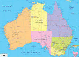 map of australia map australia major tourist attractions maps