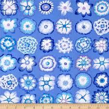 kaffe fassett home decor fabric kaffe fassett button flowers blue from fabricdotcom designed by