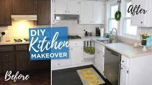 kitchen makeover with cabinets diy kitchen makeover budget kitchen diy remodel painted cabinets before after