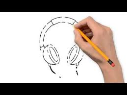 headphones and microphone things pencil to draw step by step youtube