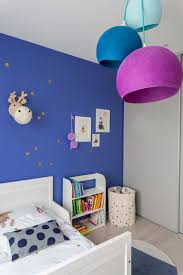 chambre fille bleu indigo contemporain chambre d enfant