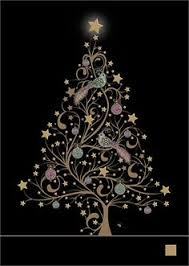 robin tree christmas card design by jane crowther for bug art