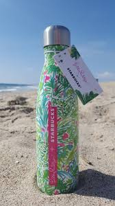 Lilly Pulitzer For Starbucks Lilly Pulitzer Starbucks S U0027well Bottle Sirens Calling Mermaid Palm