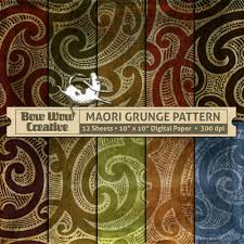 Design Patterns For Invitation Cards 10 Grunge Maori Polynesian Tribal Tattoo Pattern Digital Papers